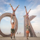 Standing Extended Hand-to-Hands at Burning Man 2015